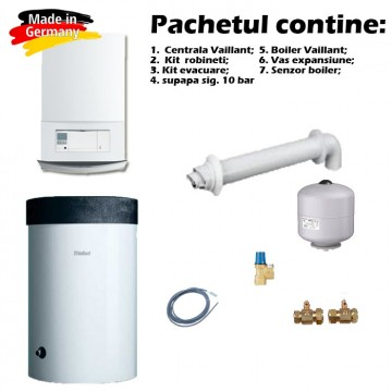 Pachet promotional centrala in condensare Vaillant VU INT II 306/5-5 + boiler VIH R 200/6 + accesorii