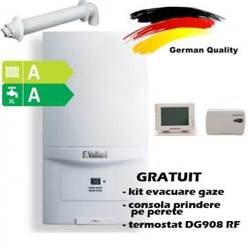 poza Pachet centrala termica in condensatie VAILLANT ecoTEC pure  VUW  286/7-2, 26,1 kW - Incalzire + A.C.M. + termostat Wireless