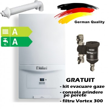 poza Pachet centrala termica in condensatie VAILLANT ecoTEC pure  VUW  286/7-2, 26,1 kW - Incalzire + A.C.M. + fltru Sentinel VORTEX 300
