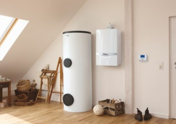 Poza ecotec plus VU 656/5-5 si boiler 300 litri