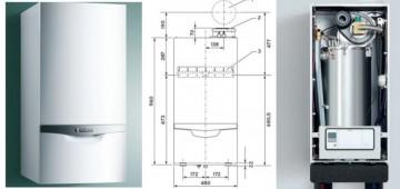 Poza Centrala in condensatie VAILLANT ecoTec plus VU OE 1006/5-5 - dimensiuni