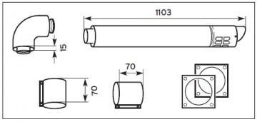Poza kit evacuare condensare 80-125