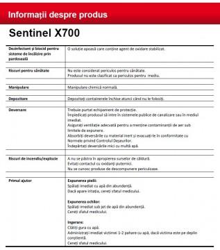 Poza Informatii produs Sentinel X700